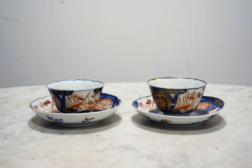 瓷器-伊萬里風格瓷杯組