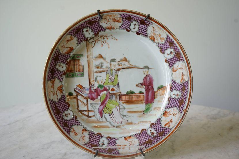 瓷器-粉彩人物瓷盤