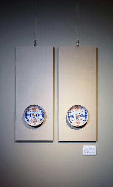 瓷器-伊萬里風格花卉瓷盤