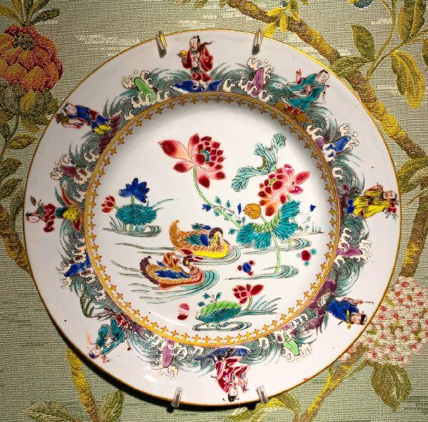 瓷器-八仙過海鴛鴦盤