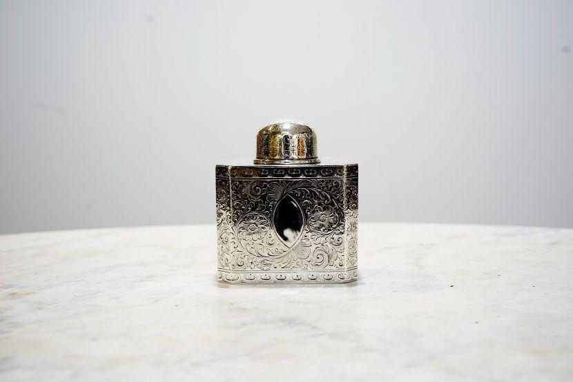 銀器-美國費城銀罐