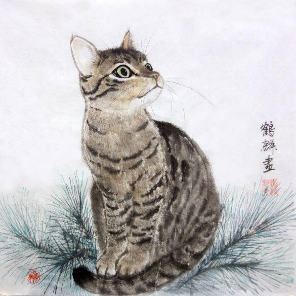 嚴鶴麟-松與貓