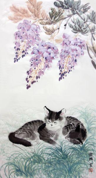 嚴鶴麟-紫藤狸奴