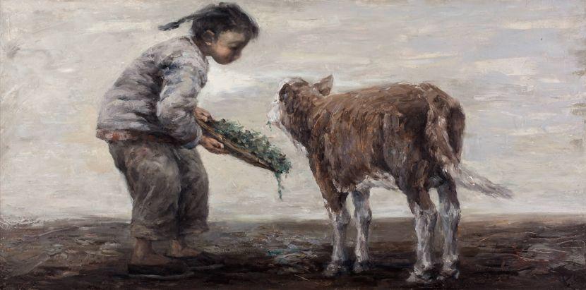 岑龍-斷奶的小牛犢|Weaned Calf