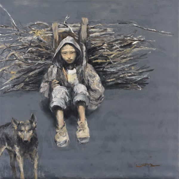 岑龍-揹柴的阿米子 Young Girl Bearing Firewood