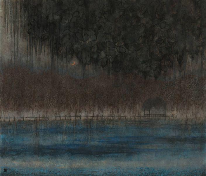 林靖子-月夜垂釣|Fishing in the Moon Night