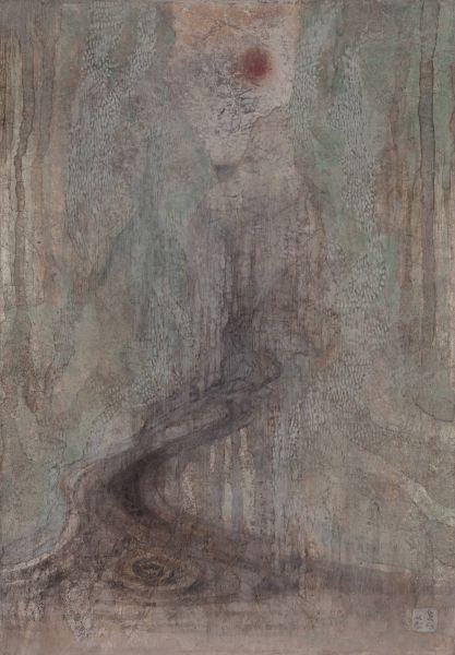 林靖子-月夜.流水潺潺-紅|Babbling Brook in aMoon Night – Red