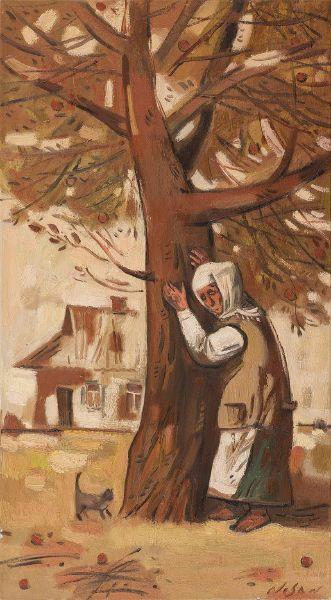 弗拉基米爾.諾山-蘋果樹旁|By the Apple Tree