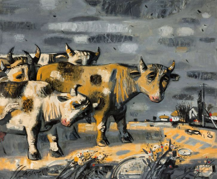 弗拉基米爾.諾山-牛群|Cows Grazing in the Meadow