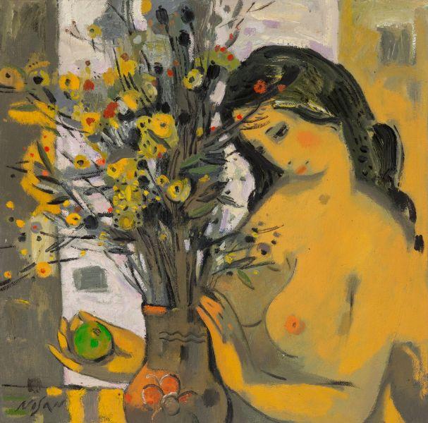 弗拉基米爾.諾山-一束野花|A Bouquet of Yellow Flowers