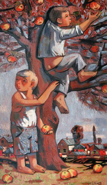 弗拉基米爾.諾山-庭園的熟蘋果|Ripe Apple in the Garden