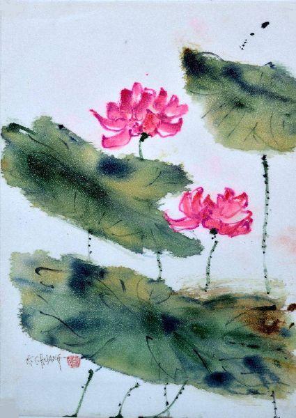 黃歌川-出水芙蓉似神仙