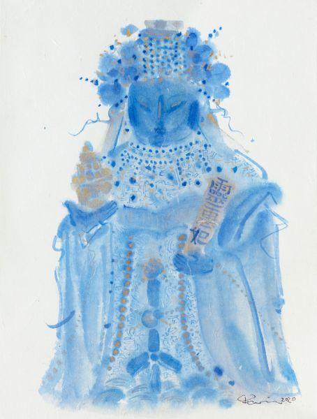 牛安-靈惠妃后媽祖 F007 藍莓 MAZU F007. Blueberry