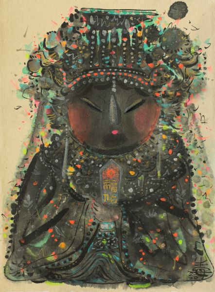 牛安-福佑玄衣媽祖 MAZU – Goddess of Mercy in Black