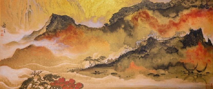 姚逸之-雲嵐霽霞 Rosy cloud after the rain