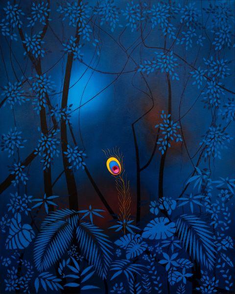 安德里亞・魯辛-  peacock in the forest