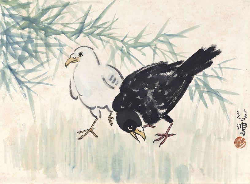 張忠弘-竹林雙鴿