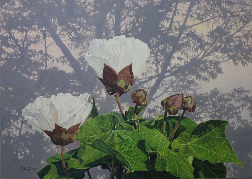 周錫安-山芙蓉的春天The Spring of Hibiscus