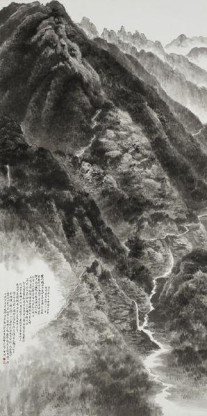 趙宇脩-師子尊者掩關圖