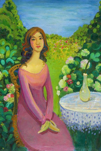 黃騰輝-太太的畫像