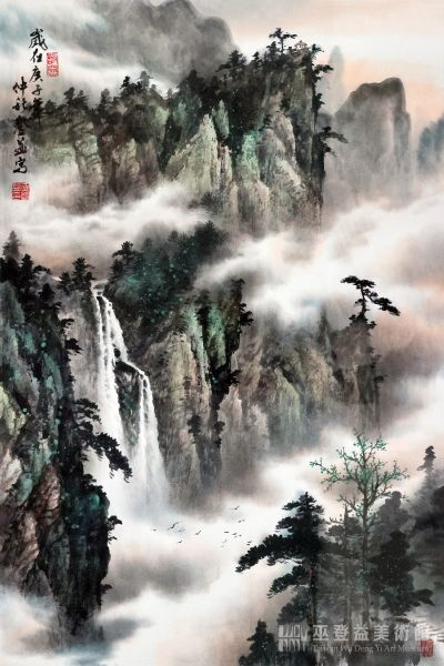 巫登益-晴嵐觀瀑