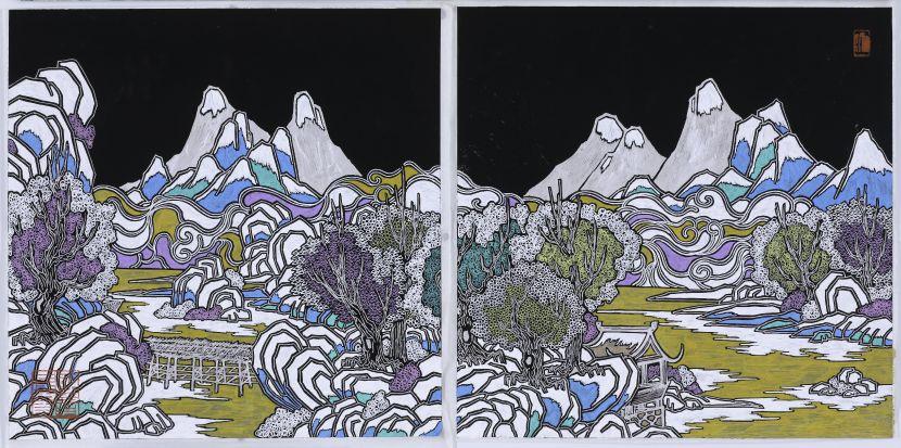 邱國峯-《出山 棲水》