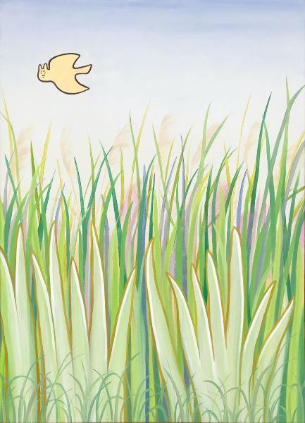 林佩君-飛鳥和蟬80x110油畫