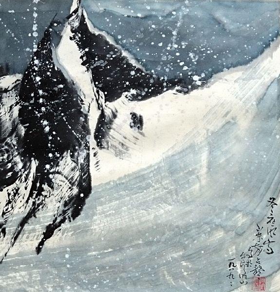 趙占鰲-冬夜風雪