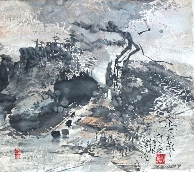 趙占鰲-秋山泉聲
