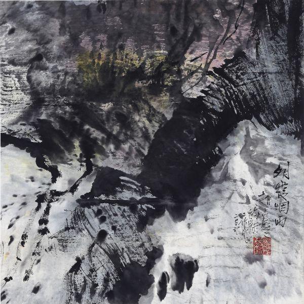 趙占鰲-明霞煙雨