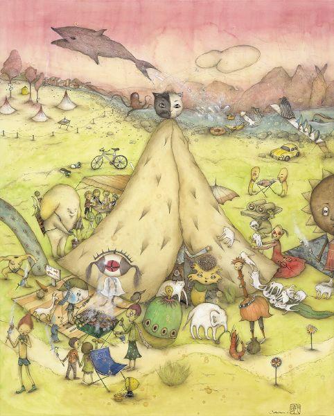 中原千尋-貓咪帳篷的野營