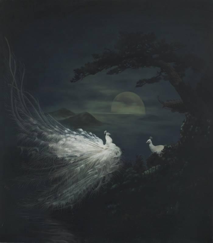 萬太豐,戀戀情深3,160x140cm,油畫畫布,2019。