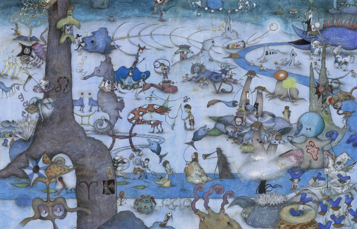 中原千尋|12個星座的故事|102(H) x 158.8(W)cm|藝術微噴紙本|2017