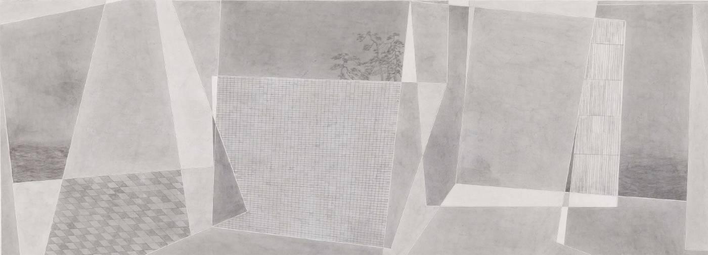 葉帆,追憶‧6,47x130cm,水墨紙本,2020