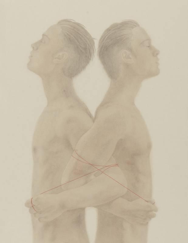 陳夏,結‧10 ,40.8x31.7cm,水墨紙本,2019