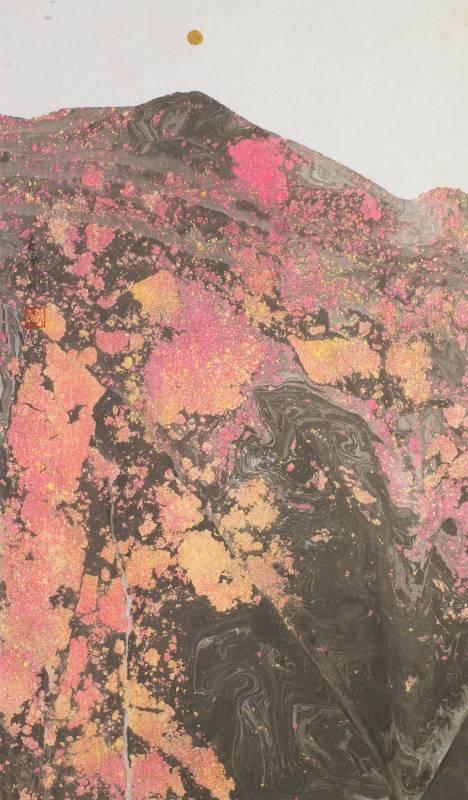 李嘉津 / 紅妍繽紛‧3 / 74.5x43.3cm / 水墨紙本/ 2014
