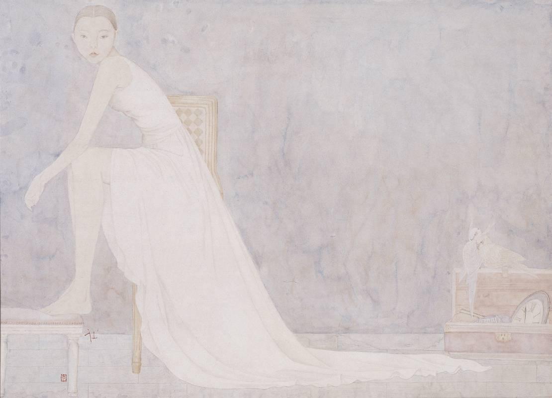 鄧先仙 / 白鳥 / 84 x 113.5cm / 水墨紙本 / 2011
