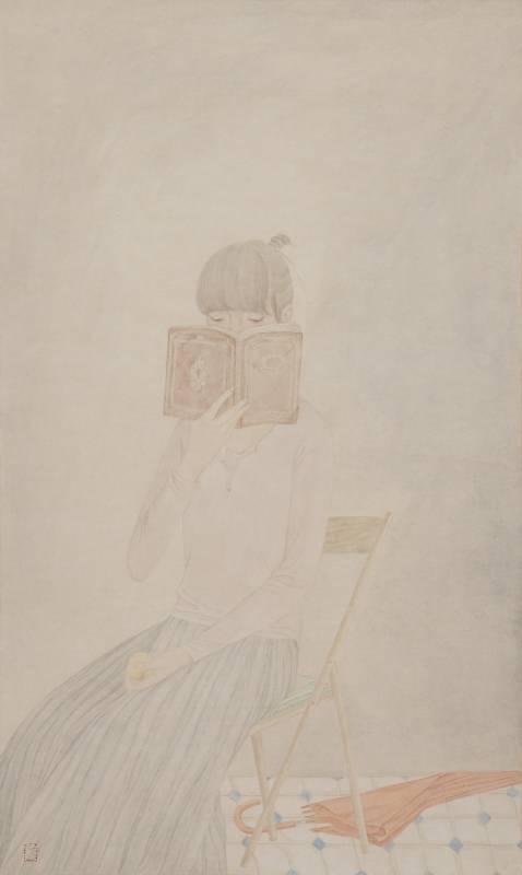 鄧先仙 / 女孩肖像‧1 / 76.5 x 46cm / 水墨紙本 / 2014
