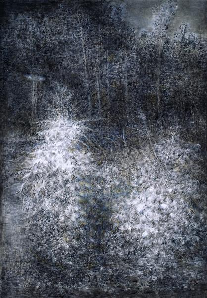 周紅-魯美夜色-情侶樹