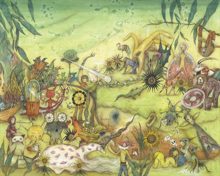 中原千尋-獨角獸與向日葵