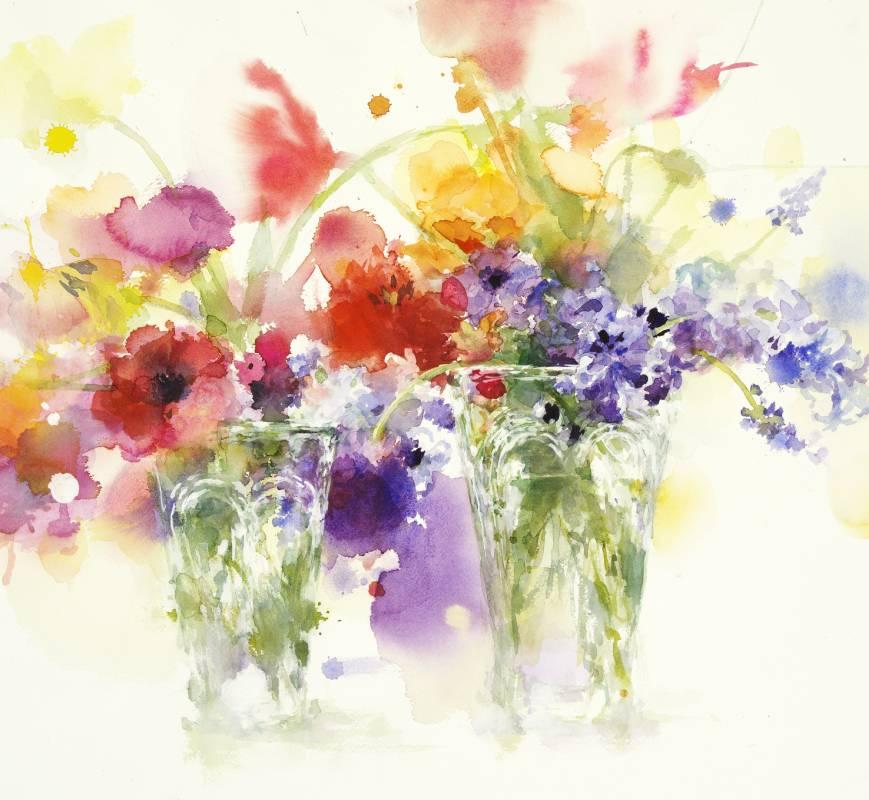 藝術家:永山裕子  標題:春天  尺寸:43 * 48 cm年代:2020    材質:水彩/紙
