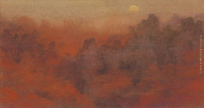 彭偉新-朝鮮風情 金鋼楓紅