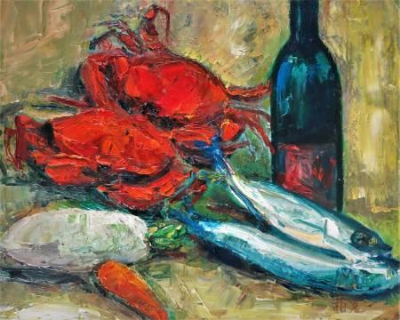 潘柏克(柏克創藝)-蟹肥魚鮮 Plump crabs and fresh fish