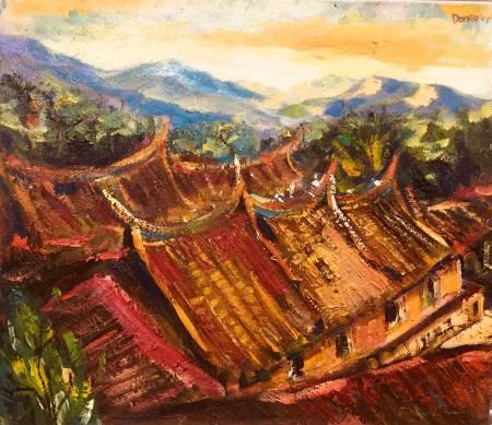 Dorrie Hsu-獅頭山上的寺廟
