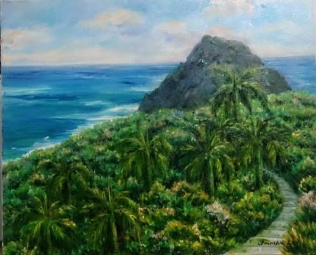李芳時-椰林與海