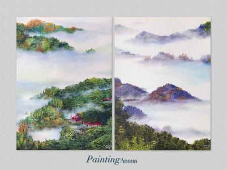 艾瑪 Amma-《追光者系列:雲霧柔光二幅》Light Chaser : The Grand Sea Of Clouds In Tainan