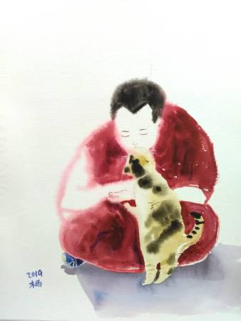董木雨彤-禪-貓之吻