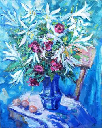 "Natalia Nysh-Summer Bucket ""Blue Mood"""
