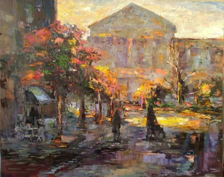 胡志誠-散步在黃昏的陰涼處