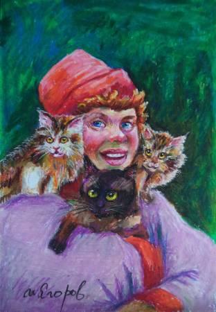 Ivan Yehorov-Clown and Cat 貓丑